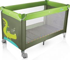 Манеж Baby Design Simple Crocodile Green